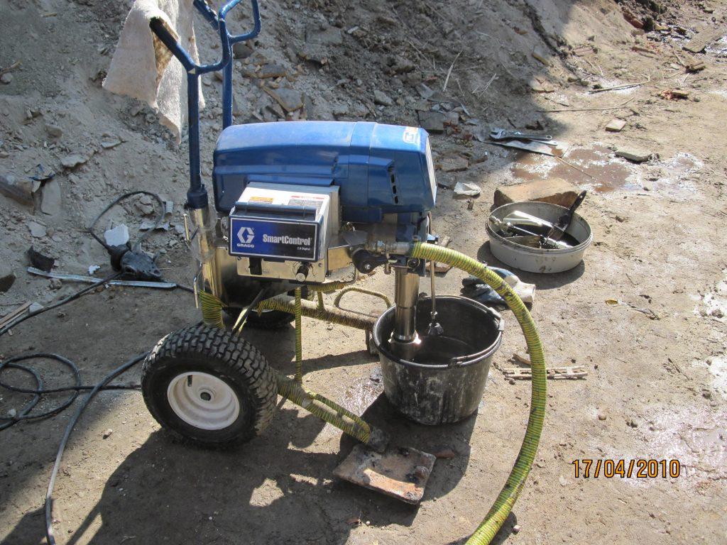 beton injektálása